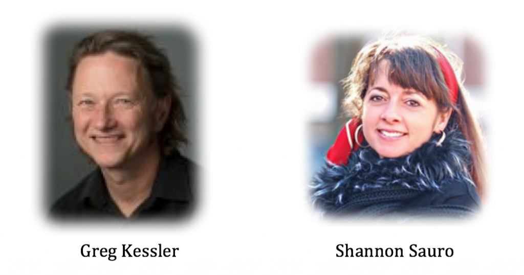 Head shots of Greg Kessler and Shannon Sauro, plenary speakers