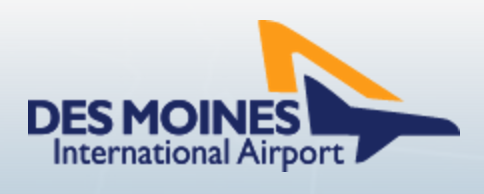 des moines international airport logo